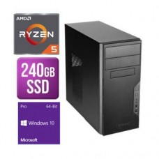 Spire Tower PC, Antec VSK3000B, Ryzen 5 3400G, 8GB, 240GB SSD, Corsair 450W, DVDRW, KB & Mouse, Windows 10 Pro